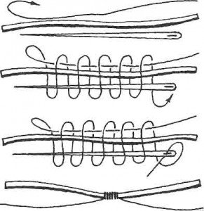 крепление удлиняющей лески к шнуру