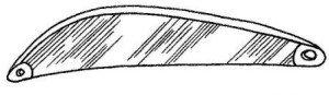 Лепесток колебалки блесны со снятой фаской