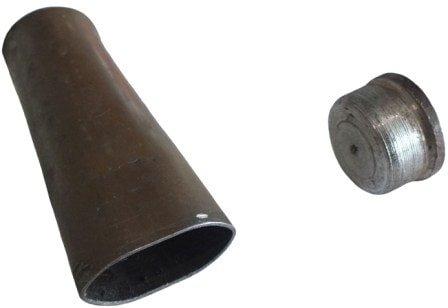 Сплюснутая трубка для выдавливания лепестков блесны вертушки