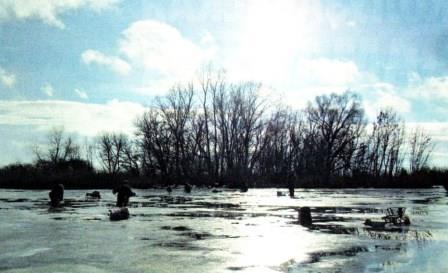 рыбачили на Мостовом напротив Харитоново в апреле