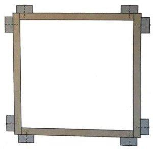 Самодельная рамка или окно для рыбалки на болотистых и заросших прудах
