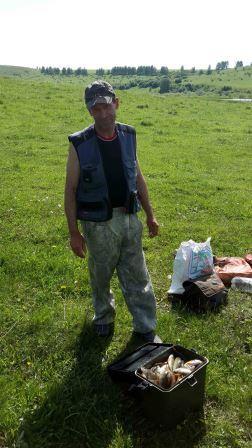 Рыбалка на озере у Новошипуново 14 июня 2014 года